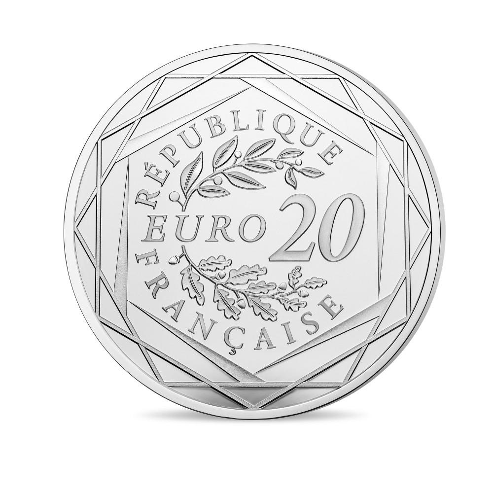(EUR07.ComBU&BE.2020.10041354170000) 20 euro France 2020 Proof Ag - President Jacques Chirac Reverse (zoom)