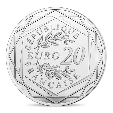 (EUR07.ComBU&BE.2020.10041354170000) 20 euro France 2020 argent BE - Jacques Chirac Revers