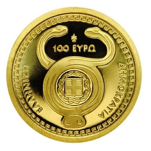(EUR08.ComBU&BE.2020.1000.COM1) 100 euro Greece 2020 Proof gold - Hermes Obverse (zoom)