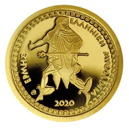 (EUR08.ComBU&BE.2020.1000.COM1) 100 euro Greece 2020 Proof gold - Hermes Reverse (zoom)