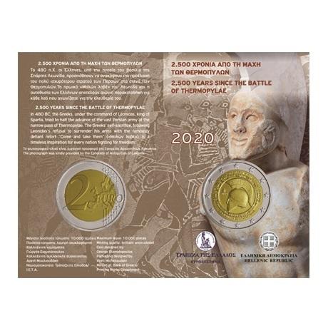 (EUR08.ComBU&BE.2020.200.BU.COM1) 2 euro Grèce 2020 BU - Bataille des Thermopyles (blister)