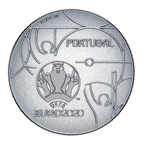 (EUR15.250.2020.12500513) 2,50 euro Portugal 2020 - UEFA Revers