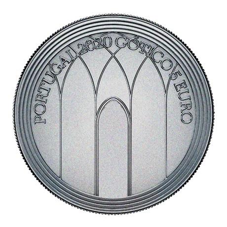 (EUR15.500.2020.12500510) 5 euro Portugal 2020 - Europa (Gothique) Avers
