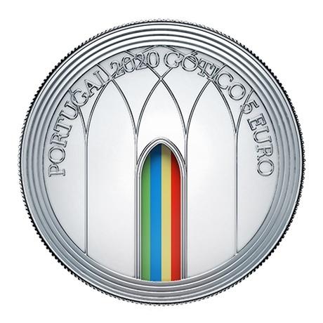 (EUR15.ComBU&BE.2020.1022062) 5 euro Portugal 2020 argent BE - Europa (Gothique) Avers