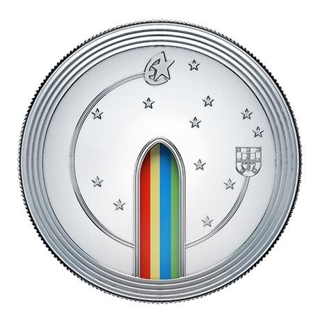 (EUR15.ComBU&BE.2020.1022062) 5 euro Portugal 2020 argent BE - Europa (Gothique) Revers