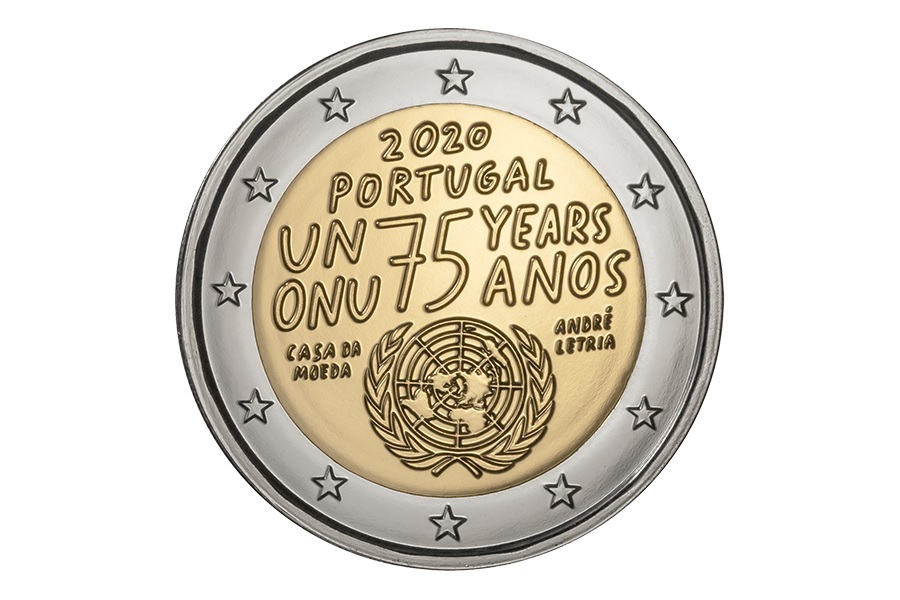(EUR15.ComBU&BE.2020.1022072) 2 euro Portugal 2020 BU - United Nations Obverse (zoom)