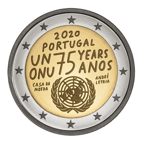 (EUR15.ComBU&BE.2020.1022075) 2 euro Portugal 2020 BE - ONU Avers