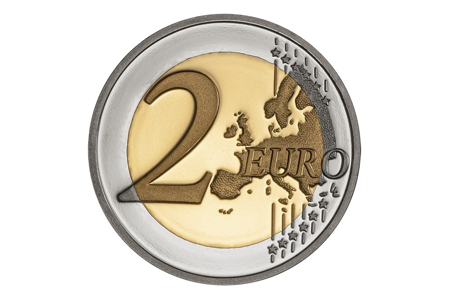 (EUR15.ComBU&BE.2020.1022075) 2 euro Portugal 2020 Proof - United Nations Reverse (zoom)