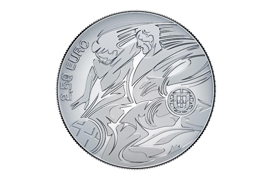 (EUR15.ComBU&BE.2020.1022082) 2.50 euro Portugal 2020 Proof silver - UEFA Euro 2020 Obverse (zoom)