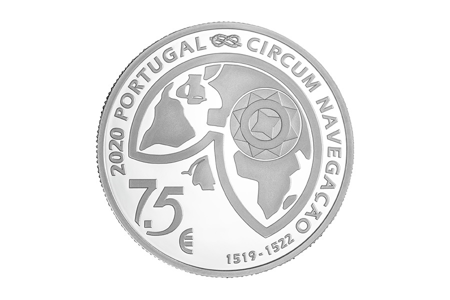 (EUR15.ComBU&BE.2020.1022097) 7.5 euro Portugal 2020 Proof Ag - Strait of Magellan Obverse (zoom)