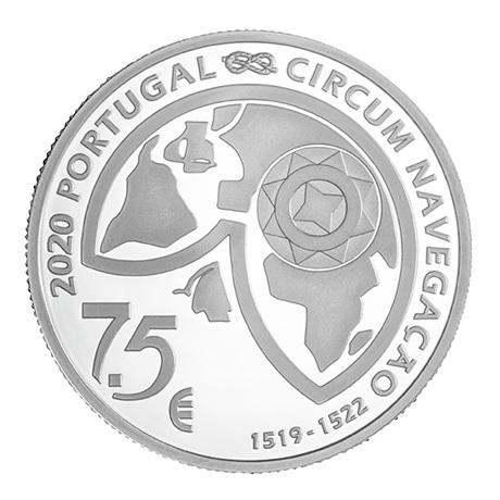 (EUR15.ComBU&BE.2020.1022097) 7,5 euro Portugal 2020 argent BE - Détroit de Magellan Avers