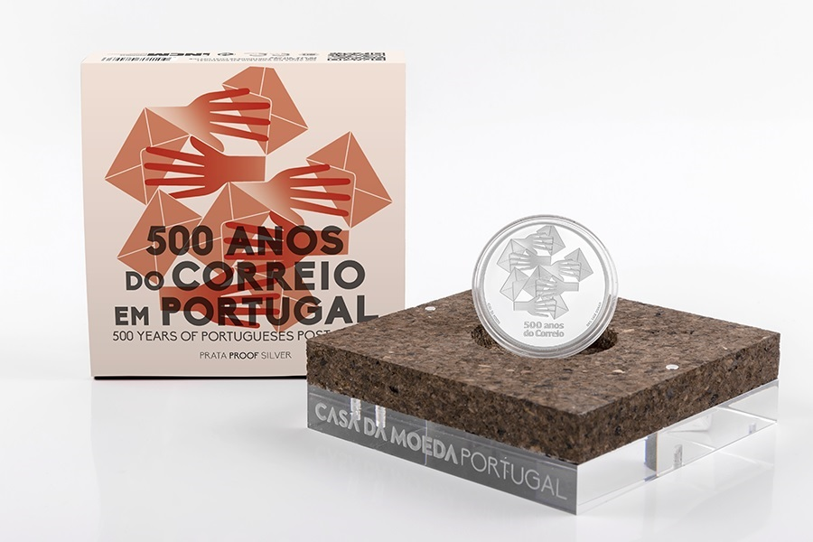 (EUR15.ComBU&BE.2020.1022796) 5 euro Portugal 2020 Proof Ag - Post office (case) (zoom)