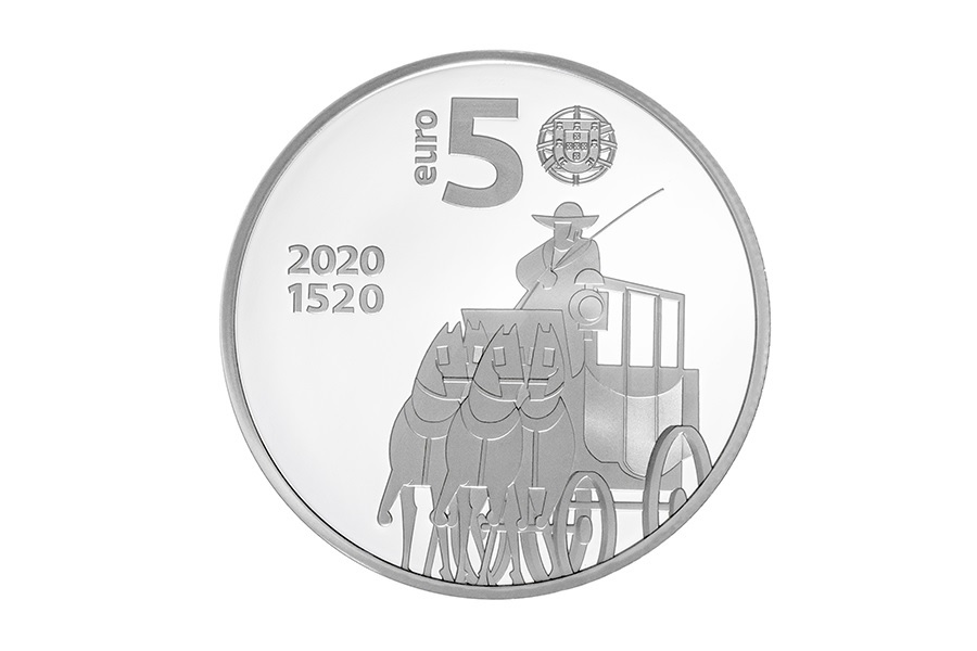 (EUR15.ComBU&BE.2020.1022796) 5 euro Portugal 2020 Proof silver - Post office Obverse (zoom)