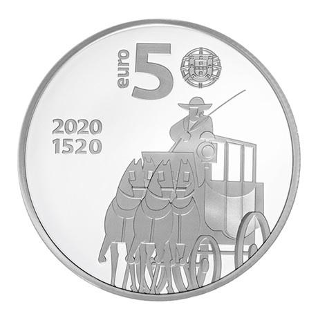 (EUR15.ComBU&BE.2020.1022796) 5 euro Portugal 2020 argent BE - Bureau de Poste Avers