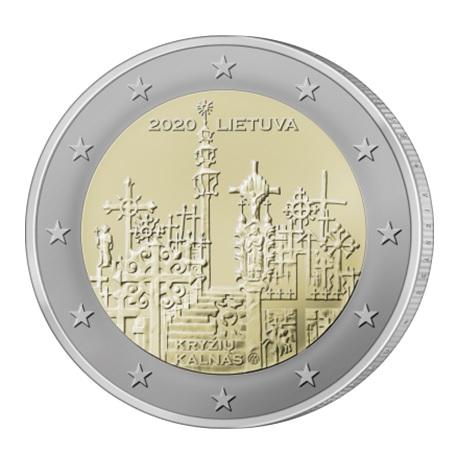 (EUR22.200.2020.COM2) 2 euro commémorative Lituanie 2020 - Colline des Croix Avers