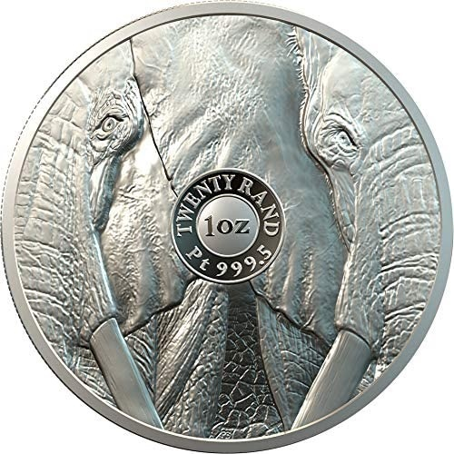 (W002.20.R.2019.PLT-PC-EL-1-19) 20 Rand South Africa 2019 1 ounce Proof platinum - Elephant Reverse (zoom)
