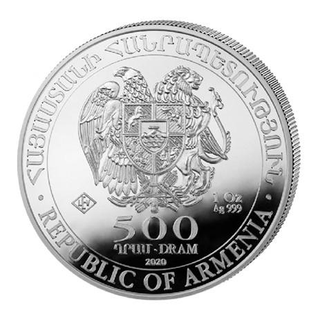 (W015.50000.2020.1.oz.Ag.1) 500 Dram Arménie 2020 1 once argent - Arche de Noé Avers