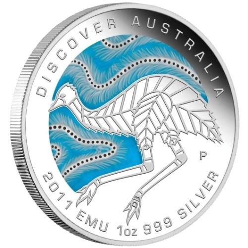 (W017.1.D.2011.1118DBAA) 1 Dollar Australia 2011 1 ounce Proof silver - Emu Reverse (zoom)