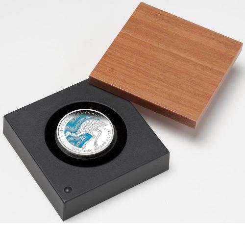 (W017.1.D.2011.1118DBAA) 1 Dollar Australia 2011 1 oz Ag silver - Emu (case) (zoom)