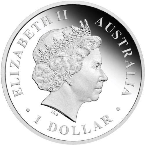 (W017.1.D.2012.1218DBAA) 1 Dollar Australia 2012 1 ounce Proof silver - Goanna Obverse (zoom)