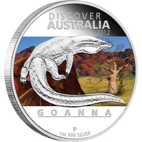 (W017.1.D.2012.1218DBAA) 1 Dollar Australia 2012 1 ounce Proof silver - Goanna Reverse (zoom)