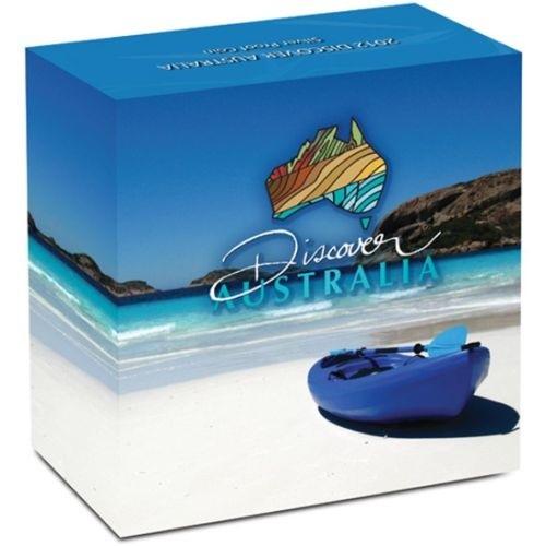(W017.1.D.2012.1218DBAA) 1 Dollar Australia 2012 1 oz Proof Ag - Goanna (box) (zoom)