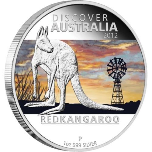 (W017.1.D.2012.1218DCAA) 1 Dollar Australia 2012 1 ounce Proof silver - Red kangaroo Reverse (zoom)