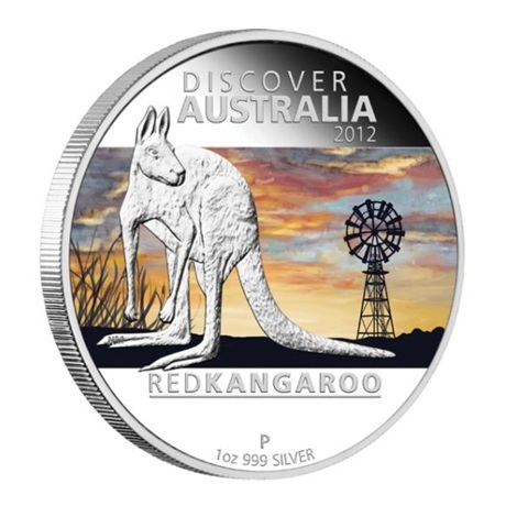 (W017.1.D.2012.1218DCAA) 1 Dollar Australie 2012 1 once argent BE - Kangourou roux Revers