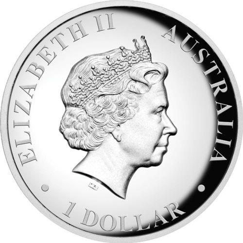 (W017.1.D.2012.1234DAAA) 1 Dollar Australia 2012 1 ounce Proof silver - Kangaroo Obverse (zoom)