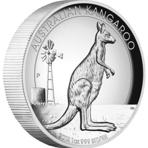 (W017.1.D.2012.1234DAAA) 1 Dollar Australia 2012 1 ounce Proof silver - Kangaroo Reverse (zoom)