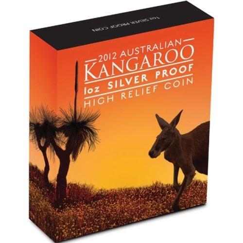 (W017.1.D.2012.1234DAAA) 1 Dollar Australia 2012 1 oz Proof Ag - Kangaroo (box) (zoom)