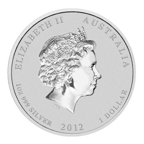 (W017.1.D.2012.12T22AAA) 1 Dollar Australie 2012 1 once argent BE - Amitié sino-australienne Avers