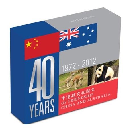 (W017.1.D.2012.12T22AAA) 1 Dollar Australie 2012 1 oz Ag BE - Amitié sino-australienne (boîte)
