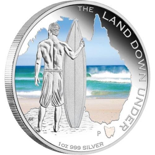(W017.1.D.2013.131227DDAA) 1 Dollar Australia 2013 1 ounce Proof silver - Surfing Reverse (zoom)