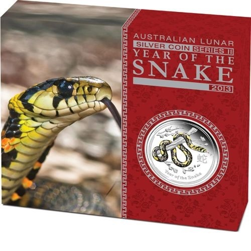 (W017.1.D.2013.2S1316DDAA) 1 Dollar Australia 2013 1 oz Proof Ag - Year of the Snake (box) (zoom)