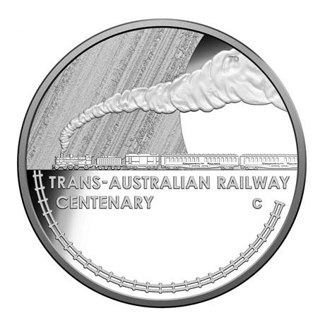 (W017.1.D.2017.1) 1 Dollar Chemin de fer trans-australien 2017 - Argent BE Revers