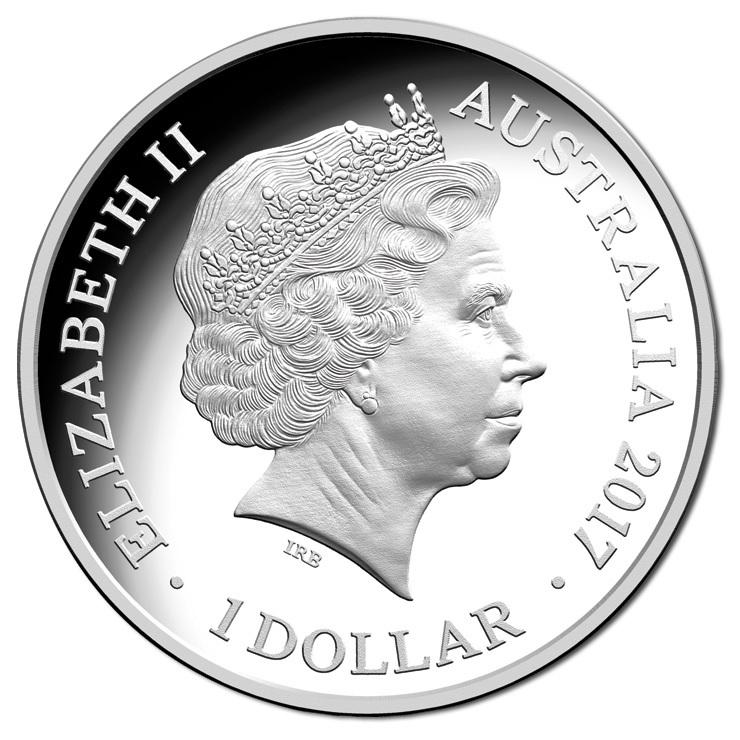 (W017.1.D.2017.1) 1 Dollar Trans-Australian Railway 2017 - Proof silver Obverse (zoom)