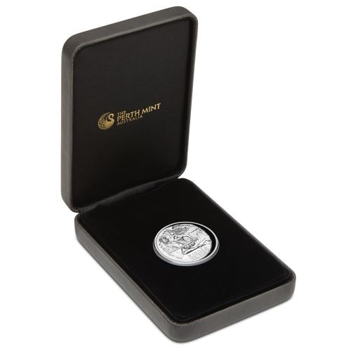 (W017.100.2021.1.oz.Ag.1) 1 Dollar Australia 2021 1 ounce Proof silver - Winged Victory (case) (zoom)