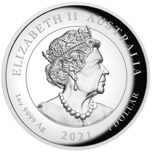 (W017.100.2021.1.oz.Ag.1) 1 Dollar Australia 2021 1 oz Proof Ag - Winged Victory Obverse (zoom)