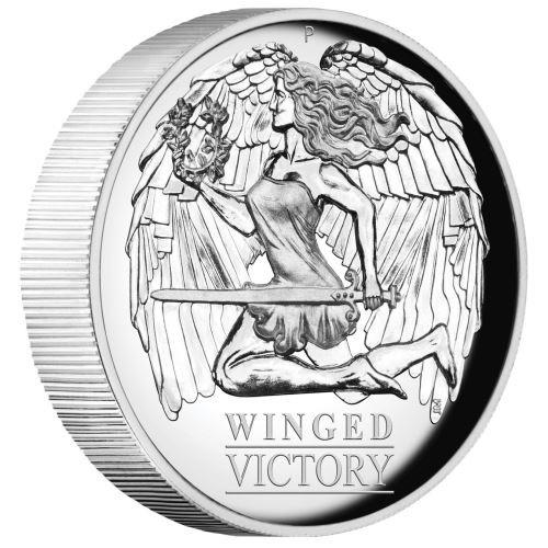 (W017.100.2021.1.oz.Ag.1) 1 Dollar Australia 2021 1 oz Proof Ag - Winged Victory (edge) (zoom)