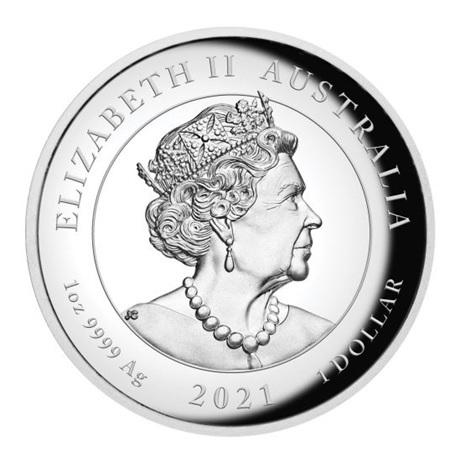 (W017.100.2021.1.oz.Ag.1) 1 Dollar Australie 2021 1 once argent BE - Victoire ailée Avers