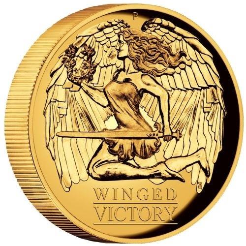 (W017.10000.2021.1.oz.Au.1) 100 Dollars Australia 2021 1 oz Proof Au - Winged Victory (edge) (zoom)