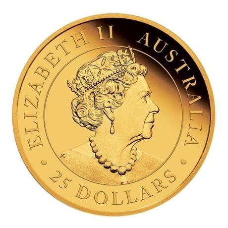 (W017.25.D.2020.0.25.oz.Au.1) 25 Dollars Australie 2020 0,25 once or BE - Kangourou Avers