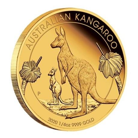 (W017.25.D.2020.0.25.oz.Au.1) 25 Dollars Australie 2020 0,25 once or BE - Kangourou (tranche)