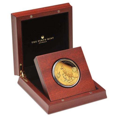(W017.500.D.2020.1.oz.Au.BE.1) 500 Dollars Australia 2020 5 ounces Proof gold - Kangaroo (case) (zoom)