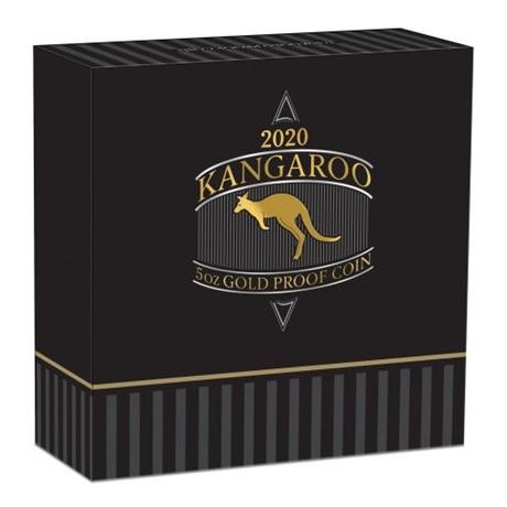 (W017.500.D.2020.1.oz.Au.BE.1) 500 Dollars Australie 2020 5 oz Au BE - Kangourou (boîte)