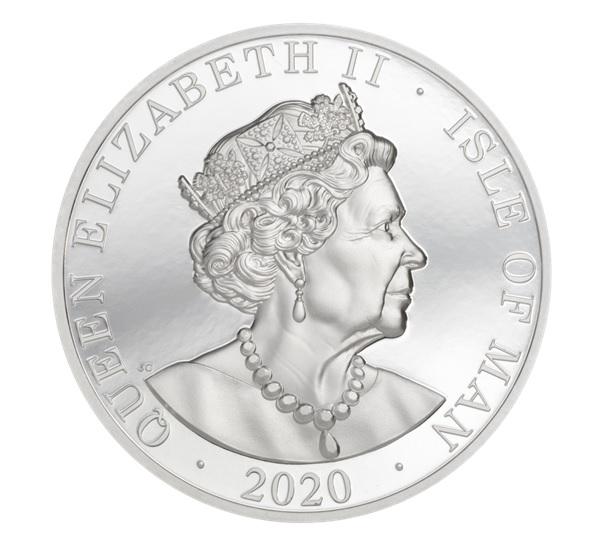 (W095.1.Noble.2020.2.oz.Ag.1) 1 Noble Isle of Man 2020 2 oz Proof silver - Longship Obverse (zoom)