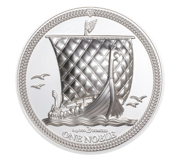 (W095.1.Noble.2020.2.oz.Ag.1) 1 Noble Isle of Man 2020 2 oz Proof silver - Longship Reverse (zoom)