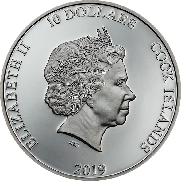 (W099.10.D.2019.2.oz.Ag.1) 10 Dollars Cook Islands 2019 2 oz Proof silver - Anchor Obverse (zoom)