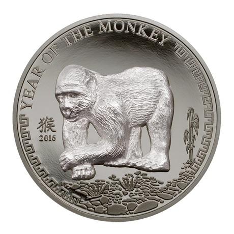 (W151.500.Tögrög.2016.25.g.Ag.1) 500 Tögrög Mongolie 2016 25 grammes argent - Année du Singe Revers